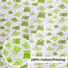Twill Cotton Fabric For DIY Handmade bed sheet Frog Print Quilting Sewing/Baby&Children Sheet,Cushio
