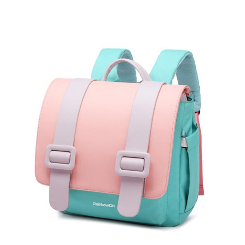 Популярные школьные ранцы для учащихся начальной школы, детские рюкзаки карамельных цветов для девочек, Молодежные портфели, 2021