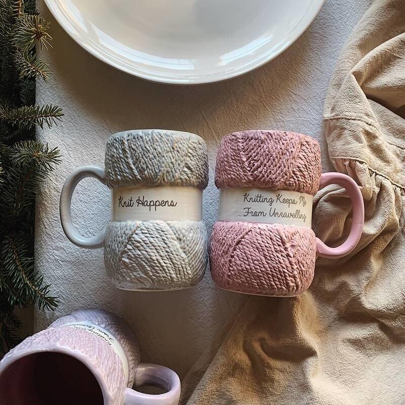 فنجان القهوة الأصلي ، الشاي الحليب ، الإبداعية رسمت الصوف الفخار ، كوب مكتب ، أفضل هدايا عيد الميلاد.