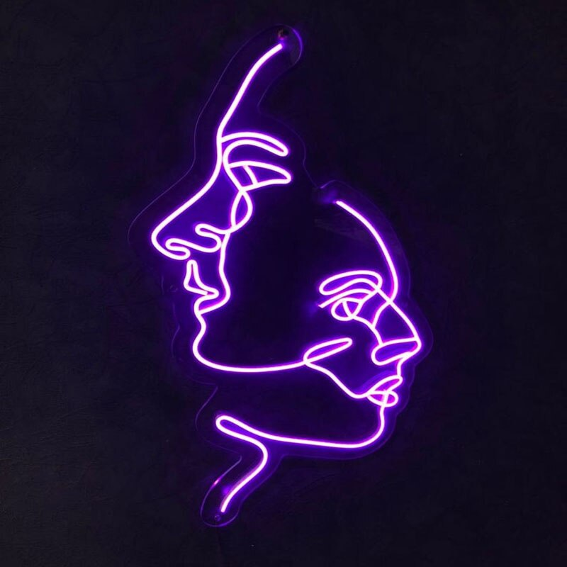 OHANEONK Custom Two Face Neon Sign Lights  Wall Hanging for Party Wedding Shop Window Restaurant Birthday Backdrop Decoration enlarge