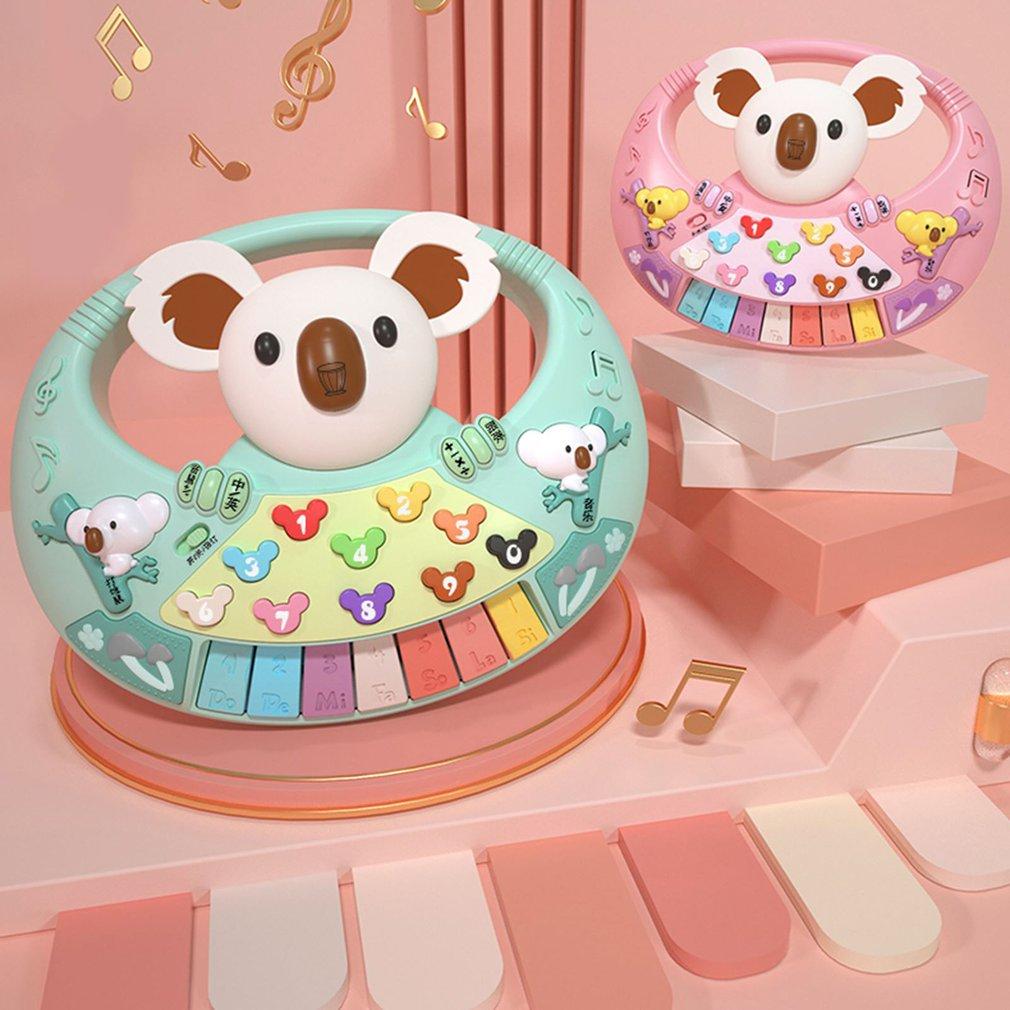 Montessori Hot Sale Musical Instrument Toy Baby Kids Animal Koala Piano Developmental Music Educational Toys For Children Gift недорого