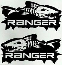 2 Pcs Ranger 4X4 Vis Ute Paar Grote 300 Mm Vissersboot Stickers 30 Cm