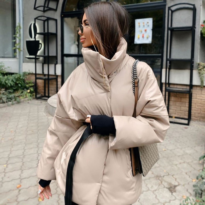 Thick Cotton Trench Coat Urban Fashion Beauty Pure Color Women's Autumn and Winter New Style