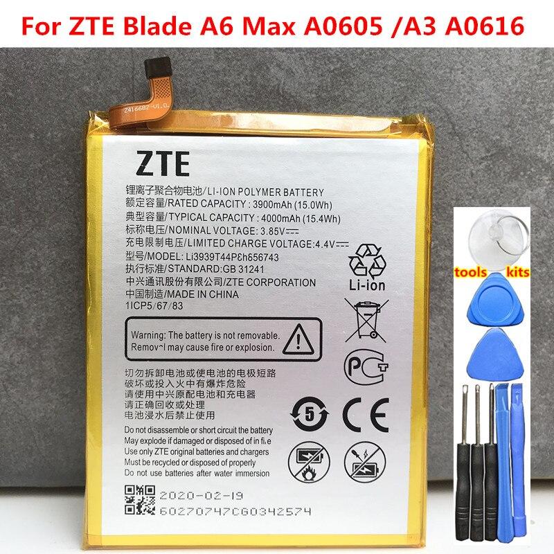 100% Original Li3939t44p8h856743 Battery For ZTE Blade A6 Max A0605 /A3 A0616 Phone High Quality Battery