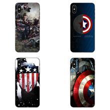 Captain America For Galaxy C5 C7 J1 J2 J3 J330 J5 J6 J7 J730 M20 M30 Ace Core Max Mini Plus Prime Pro Soft TPU Hipster Case
