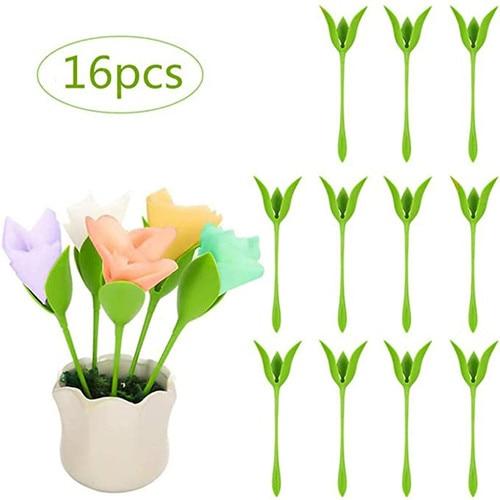 16pcs Napkin Holder Household Gathering Paper Towel Holder Tool Roll Flower Serviette Holder Decoration Table Arrangements