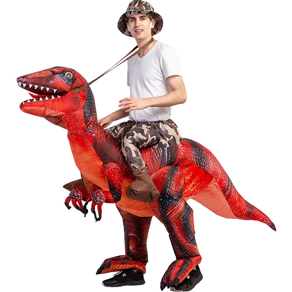 Disfraz inflable de Velociraptor T REX para adulto, Disfraz de Anime, Disfraz de Cosplay, Disfraz de Halloween para fiestas infantiles