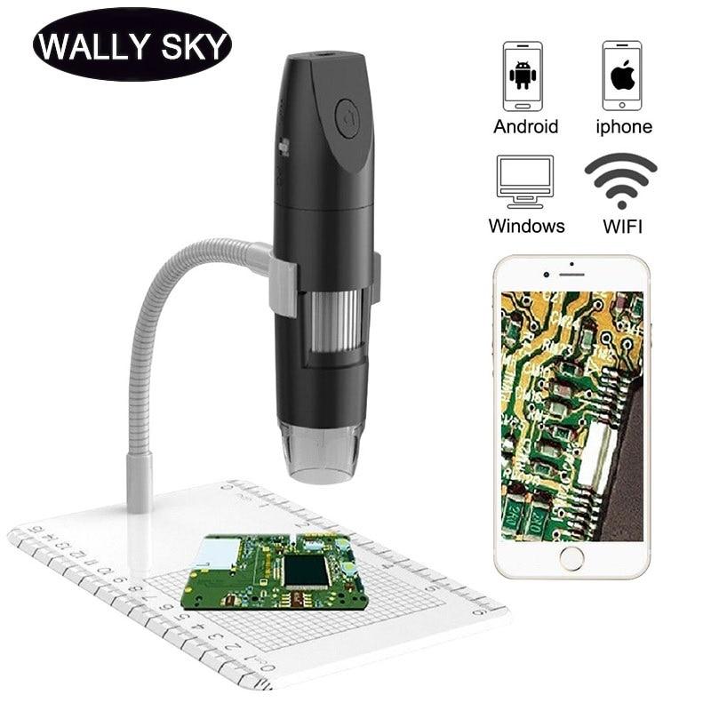 مجهر رقمي 1000X Wifi LED ، 1080P ، مجاهر إلكترونية لفحص المجوهرات PCB ، Android IOS PC
