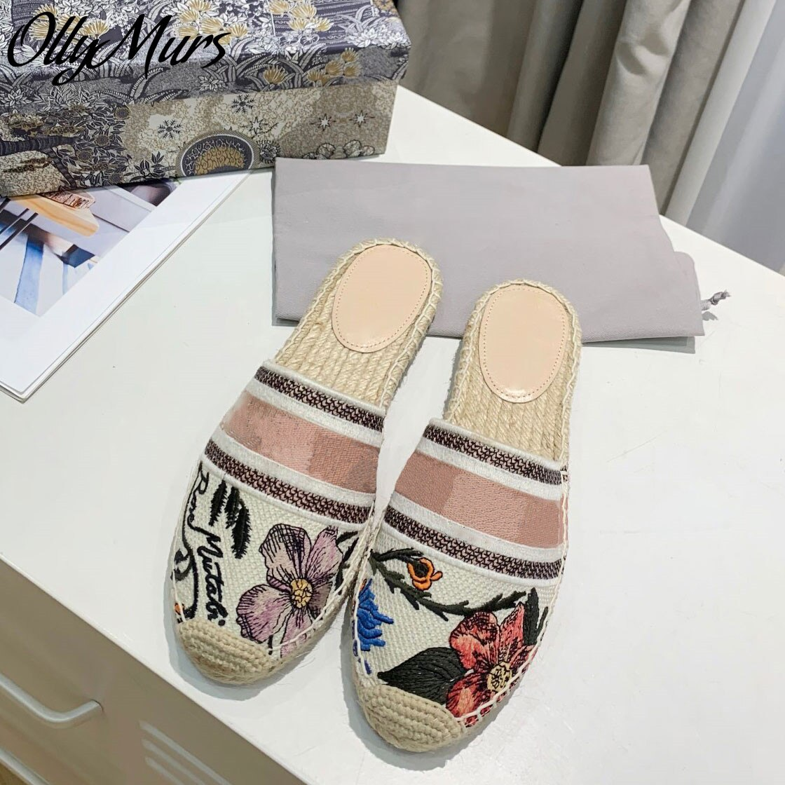 Ollymurs  Luxury Brand Slippers Women Fashion ladies Flats  female Flip Flops Slides Women  Mules sh