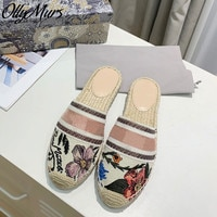 Ollymurs  Luxury Brand Slippers Women Fashion ladies Flats  female Flip Flops Slides Women  Mules shoes woman