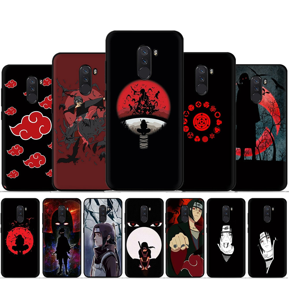Anime Naruto Itachi Black Silicone Phone Case for Xiaomi 5X 6 6X 8 9 A1 A2 A3 Lite 9se 9T 10 Pro F1 Max 3 CC9e Mix 2S