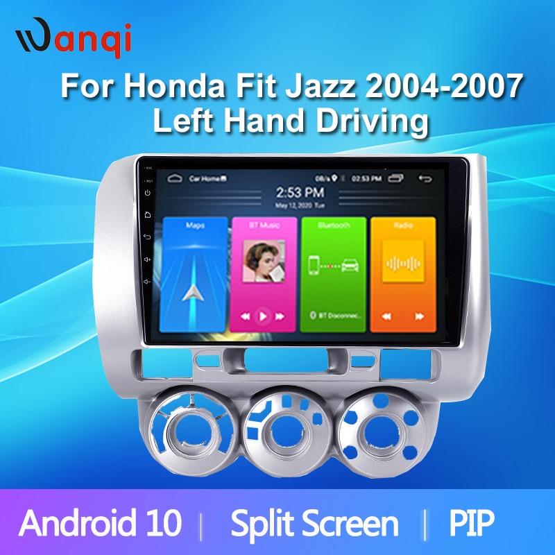 """9 """"IPS2.5D Touch Screen Carro Sistema Multimídia Para Honda Fit Jazz 2004-2007 Áudio Do Carro Da Movimentação Da Mão Esquerda rádio Estéreo BT WiFi Não DVD"""