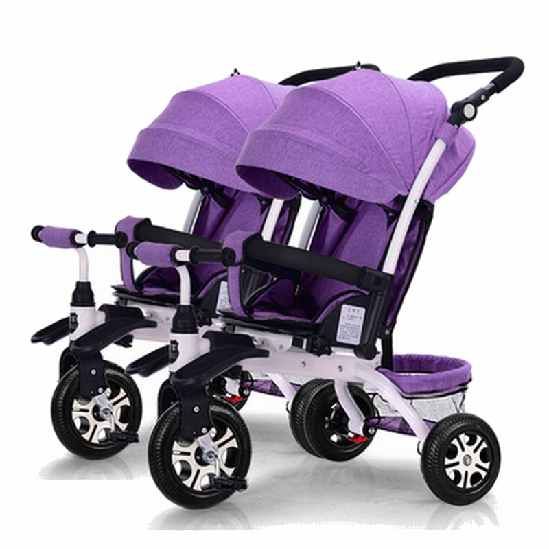 Easy control pram & Stroller& Bicycle detachable baby stroller there in one trolley child bike 0-6 years old crib baby