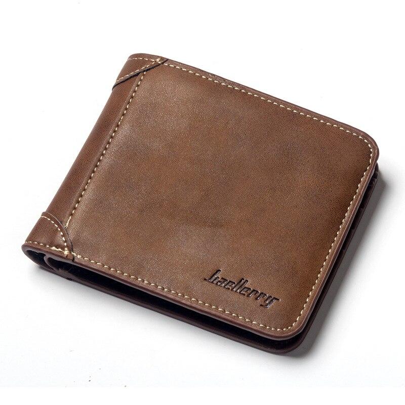 New Men Wallets Leather Wallet Money Bag Credit Card Holders Dollar Bill Wallet Clutch Purse for Boy Use Short Wallets
