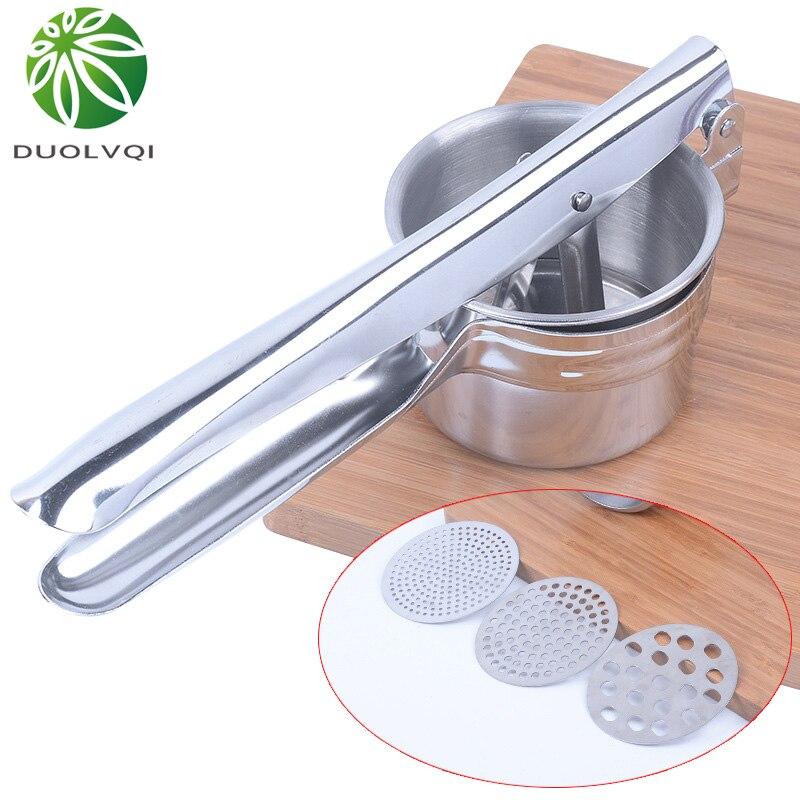 Duolvqi Ручная Соковыжималка из нержавеющей стали для картофеля, соковыжималка, пресс для картофеля, Детская пищевая добавка, кухонные инструменты