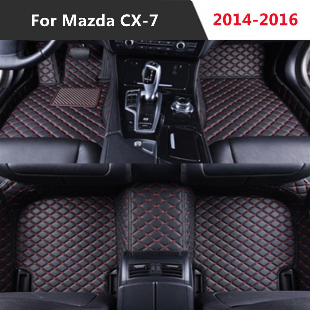 Para Mazda CX-7 (2014-2016) 2015 todos los años de cuero Auto alfombrilla...