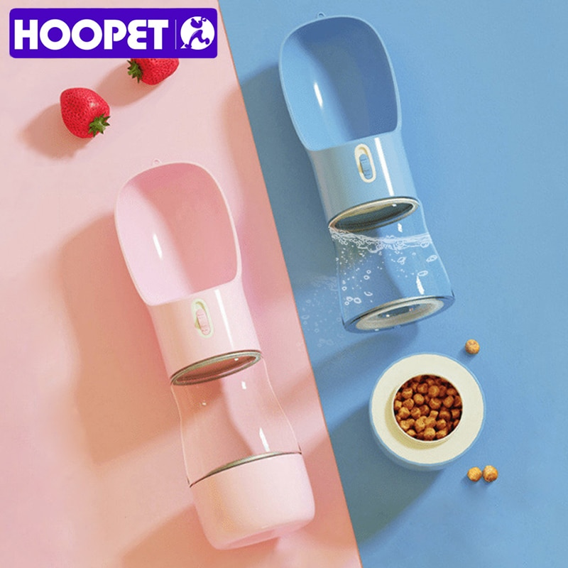 aliexpress.com - HOOPET Pet Dog Water Bottle Feeder Bowl Portable Water Food Bottle Pets Outdoor Travel Drinking Dog Bowls Water Bowl for Dogs
