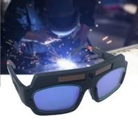 2021 solar powered auto darkening welding glasses automatic photoelectric argon arc welding mask helmet goggles welder glasses