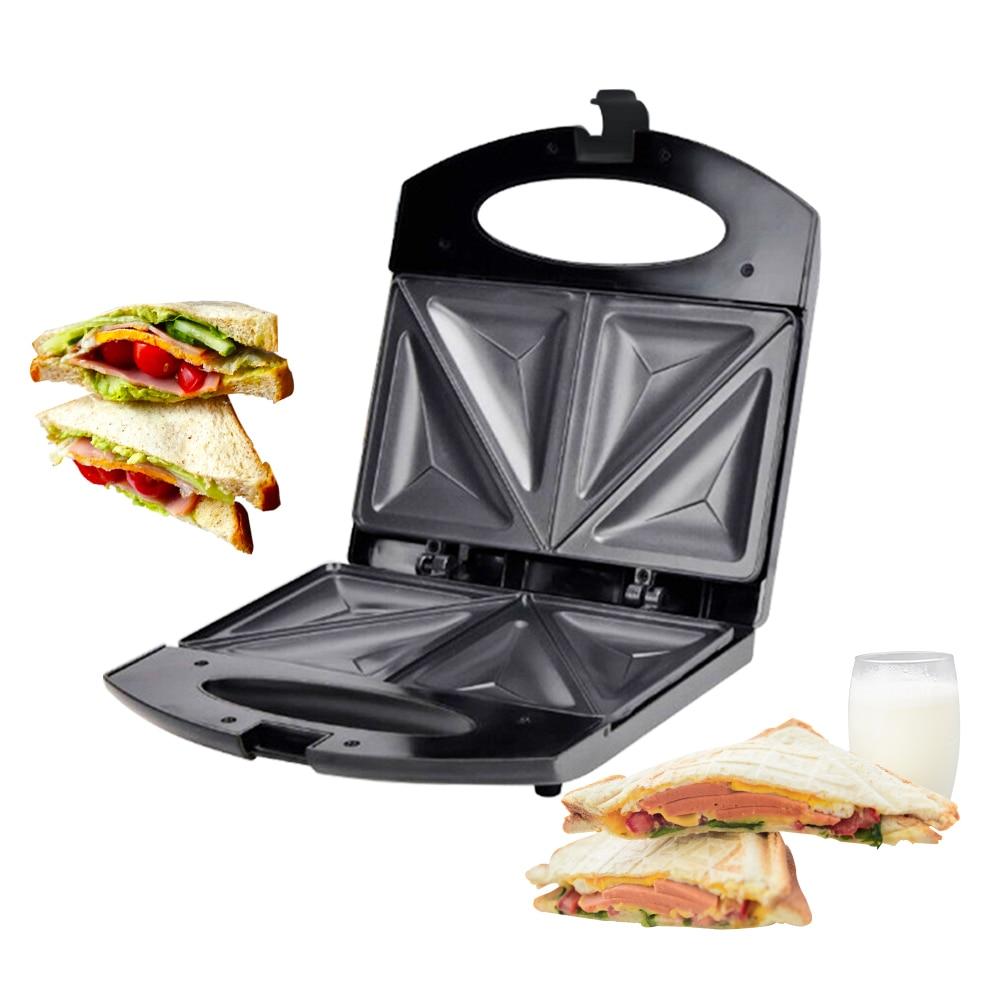 Sandwich Maker Toaster 750W Household Portable Quick Breakfast Maker Non-stick Food Processor Hamburger Fried Egg Panini Machine