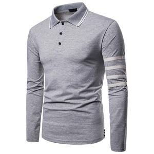 Men Long Sleeve Polo Shirt Sport golf fashion Casual Shirts
