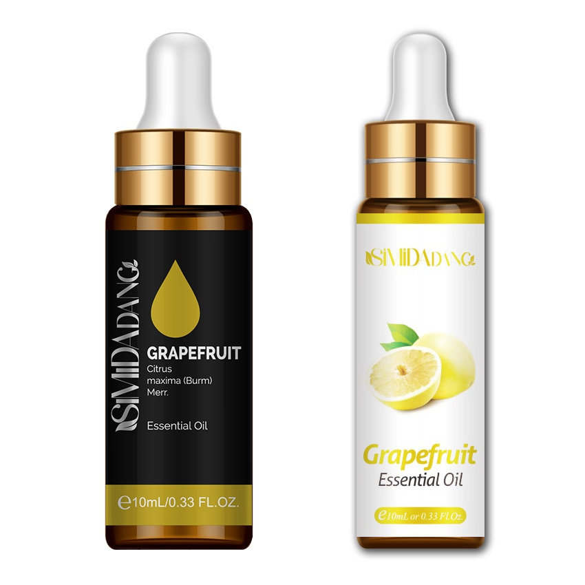10ML Grapefruit Essential Oil Can Relieve Stress Indoor Fresh Air Aroma SPA Grapefruit Oil With Dropper