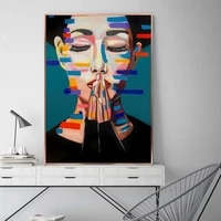 abstract girl oil paintings print on canvas nordic style graffiti art posters and prints pictures wall art pictures home cuadros
