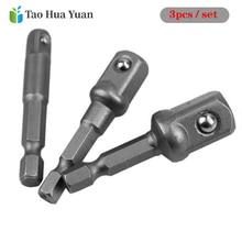 3pcs Hex Shank Conversion Wrench Chrome Vanadium Steel Socket Adapter Shank Torque Wrench ratchet Allen Key Oil Filter Wrench AA