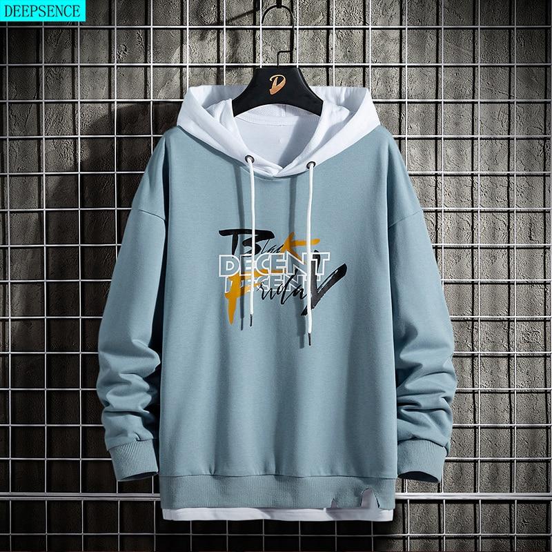 AliExpress - Spring and Autumn New Long Sleeve Men Hooded Sweatshirt Tide Brand Fashion Korean Casual Loose Round Neck Long Sleeve Hoodie Men