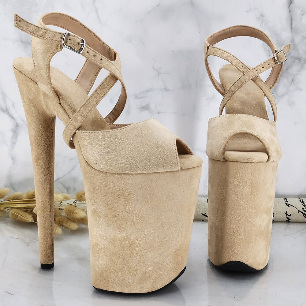 Leecabe 9inches Platform Shoes Sexy Dance Shoes 23 CM High Heels Sandals Pole Dance shoes