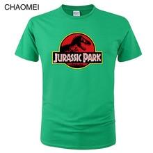 2019 Summer men's T-shirt Jurassic Park Printed Cotton T-shirt Top Casual Brand T-shirt Fashion Jurassic World Tees Cool C109