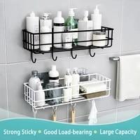 Etagere flottante murale pour salle de bain  panier de douche suspendu  porte-shampoing  accessoires WC  rangement dassaisonnement de cuisine