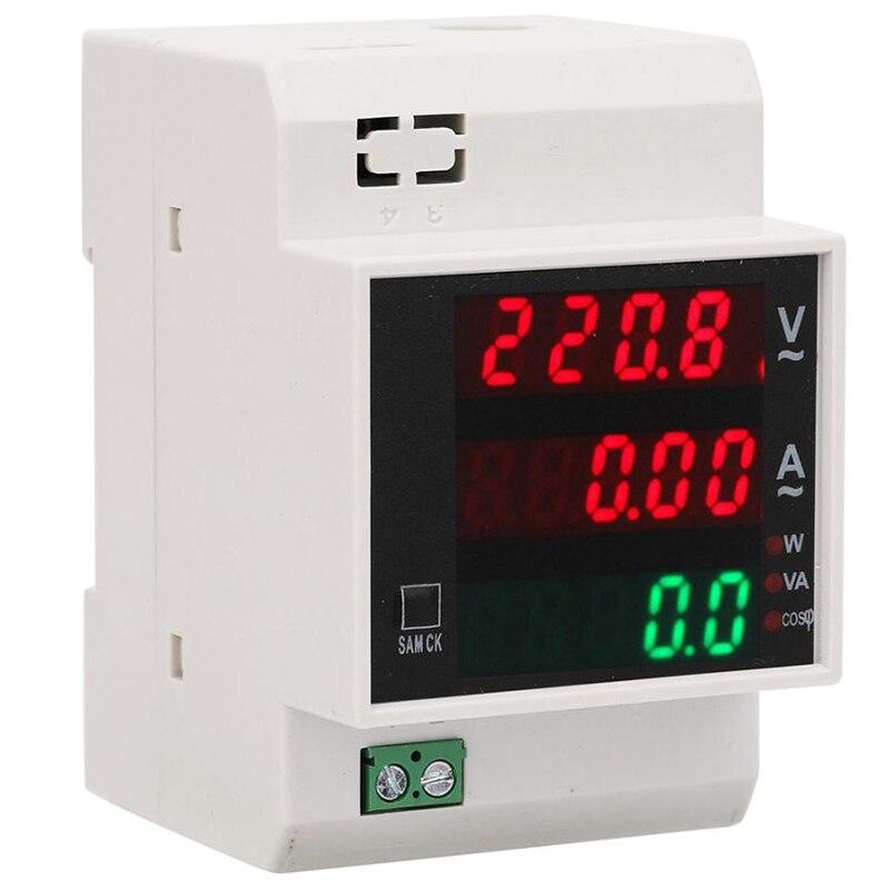 AC80-300V/100A medidor de energía Digital carril Din LED Factor de potencia activo Multi-funcional medidor de potencia Met