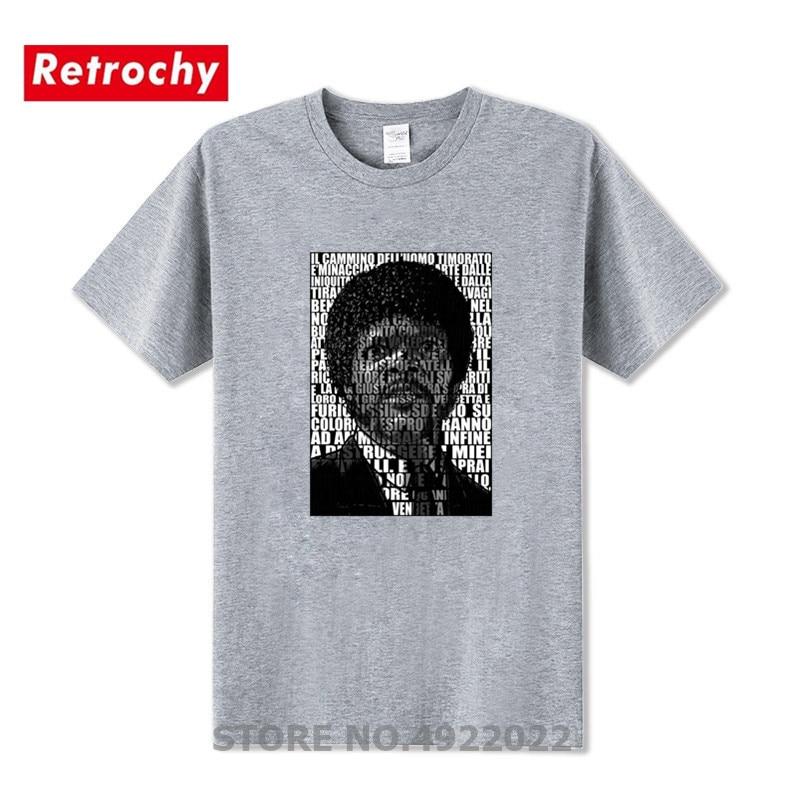 Comics Quentin Tarantino Film Pulp Fiction T Shirt Fashion Ezekiele 25-17 Pulp Fiction Saint Jules T-Shirts Men Crew Neck Tshirt