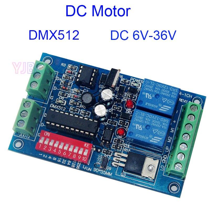 Новый контроллер двигателя постоянного тока 6 В-36 В DMX512 реле декодера переключатель, DMX512 3P диммер двигателя постоянного тока 3 А макс. тип дви...
