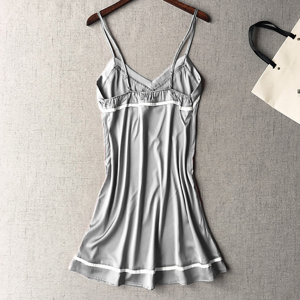 S-3XL plus size feminino sexy lingrie nightwear design simples uma peça camisola sleepwear vestido lingerie sexy robe vestido erótico