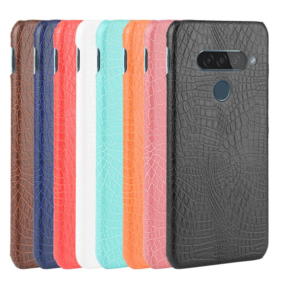 Do LG G8S etui ThinQ 6.21 cala luksusowa klasyczna krokodyl skóra ekologiczna z wzorem etui na LG G8S G 8S telefon ThinQ Case