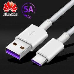 Original huawei supercharge cabo usb tipo c cabo 5a p20 p30 pro carregador rápido carga cabo de dados 1m
