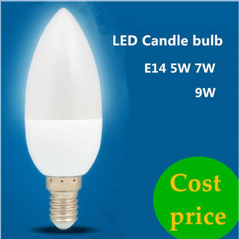 1X5 W 7W 9W Led Kaars Lamp E14 220V Energie Besparen spotlight Warm/cool wit chandlier kristallen Lamp Ampul Bombillas Home Lich