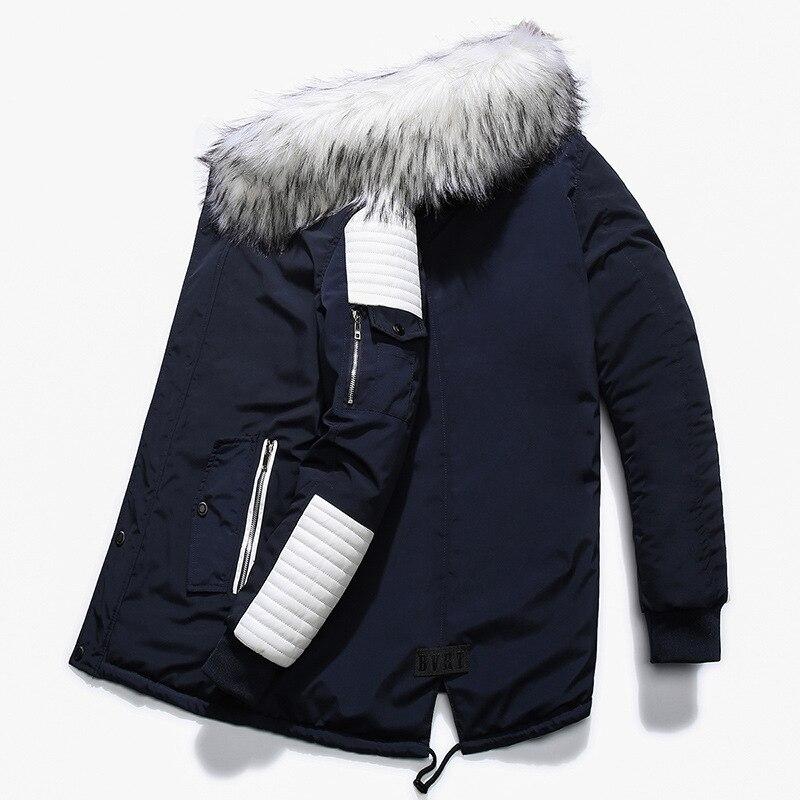 Новинка 2021, зимние куртки, парка, Мужская теплая верхняя одежда на осень и зиму, брендовые облегающие мужские пальто, Повседневная ветровка, ...