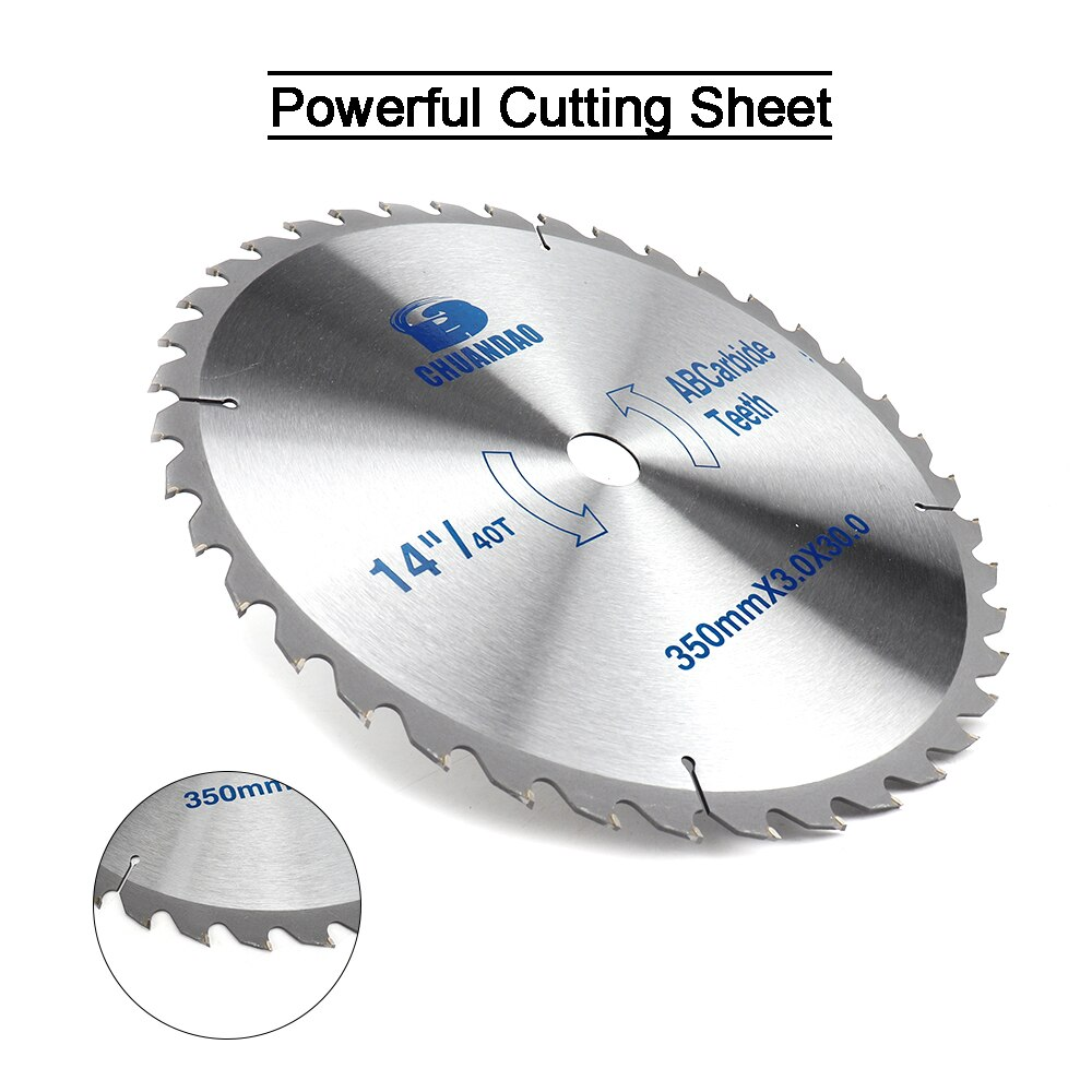 14 polegadas serra circular lâmina carboneto liga disco de corte madeira para alumínio e não ferrosa metal madeira 60/80 t/100 t/120 t