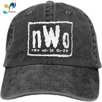 new world order mens nwo wrestling adjustable unisex hat baseball caps black