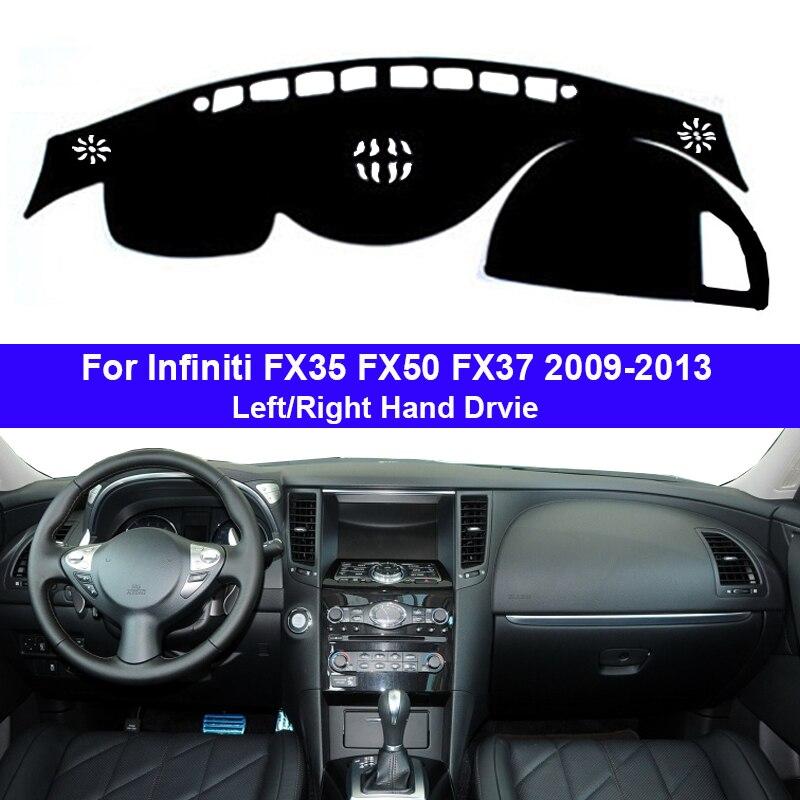 Cubierta del salpicadero del coche, capa de la alfombra del tablero, capa para FX35 Infiniti FX50 FX37 2009 - 2013 LHD RHD Auto Dashmat 2010 2011 2012 sombrilla