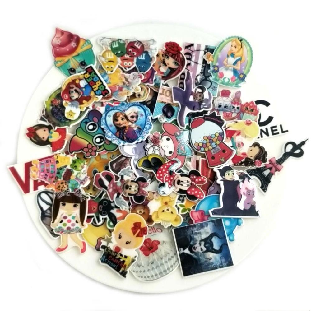 Mixed Assorted Cartoon Character Flat Back Plastic planar resin for diy decoration crafts accessories 100pcs/mixed