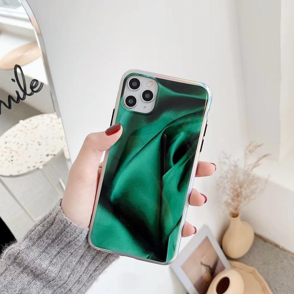 Espanha laser verde visual total pacote lado muito macio e ultrafino para iphone 7 8 plus e x xs xr e iphone 11 caso de telefone