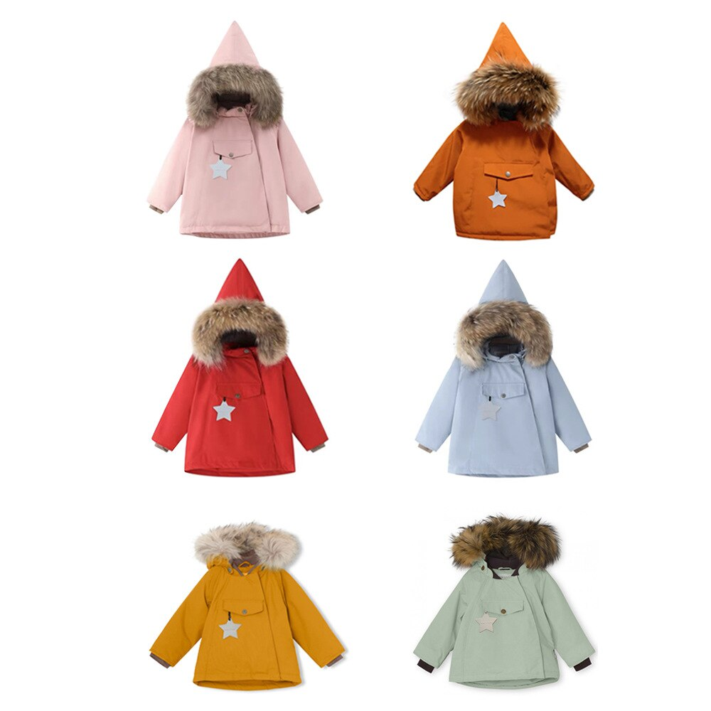 2021 winter new boy and girl cotton-padded clothes winter clothes children's hooded coat cotton kids fur coat enlarge