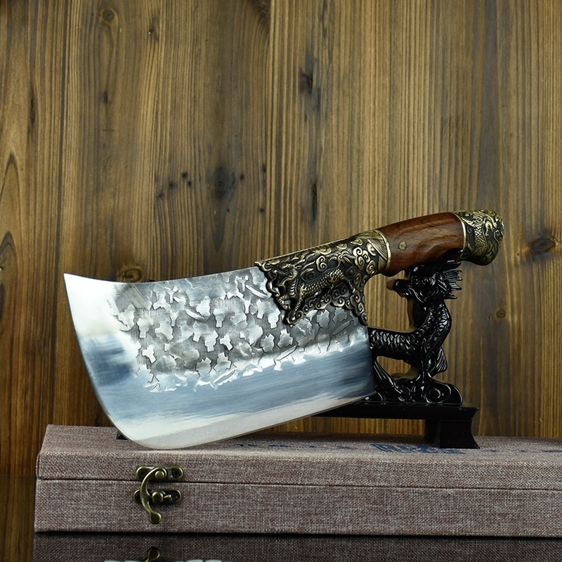 Little cooker-سكين تقطيع الخضار الصيني ، شفرة ثابتة ، صناعة يدوية ، صينية