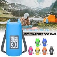 swimming dry storage sack bag 5 30l waterproof for canoe kayak rafting outdoor sport swimming bags travel kit floating backpack