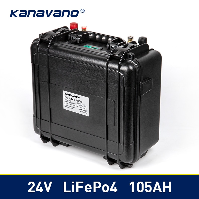 24V Deep Cycle LiFePO4 29,2 V 100Ah водонепроницаемый аккумулятор с 100A BMS для ups power Solar/RV/Home storage + 10А зарядное устройство
