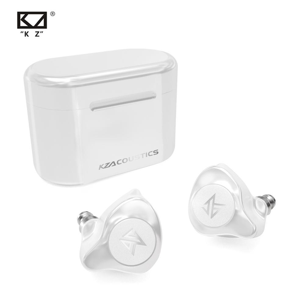 KZ S2 cierto TWS inalámbricos auriculares Bluetooth v5.0 híbrido 1DD + 1BA juego de auriculares de Control táctil de la cancelación del ruido Sport auriculares