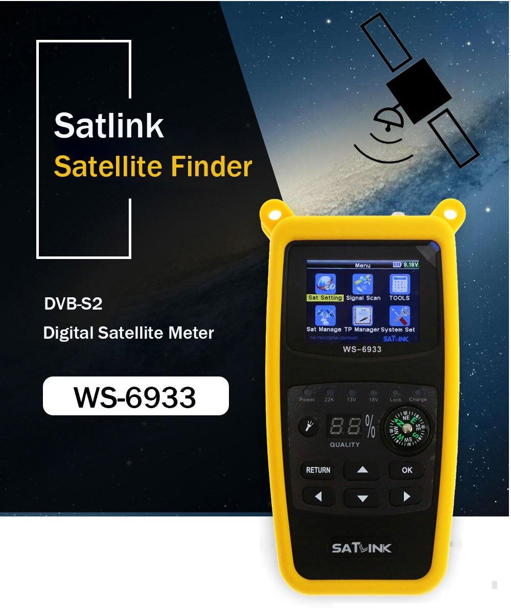 Satlink WS-6933 buscador de satélite DVB-S2 FTA CKU banda Satlink medidor del buscador de satélite Digital WS 6933 envío gratis